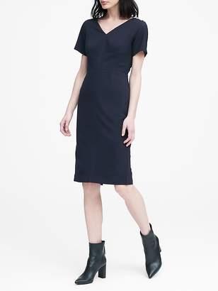 Banana Republic Lightweight Wool V-Back Dress
