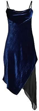 Kiki de Montparnasse Women's Velvet & Silk Bias Slip Dress