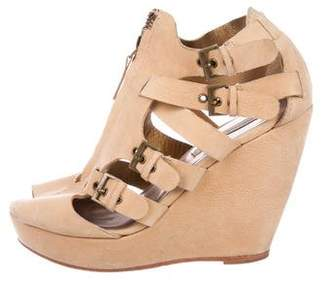 Cynthia Vincent Suede Wedge Sandals