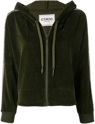 Iceberg cropped zip-up hoodie