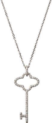 Giantti By Stefan Hafner 18k White Gold Diamond Key Pendant Necklace (0.22 ct)