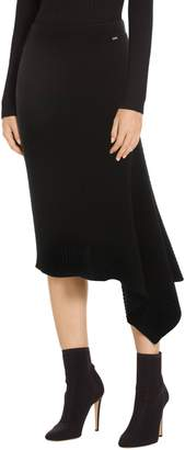 St. John Asymmetrical Rib Knit Skirt
