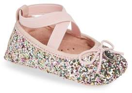 Jessica Simpson Glitter Mary Jane Crib Shoe