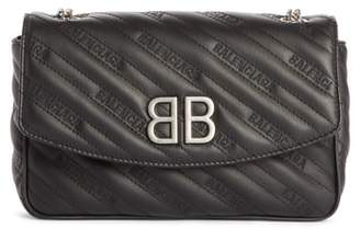 Balenciaga BB Matelasse Quilted Wallet on a Chain