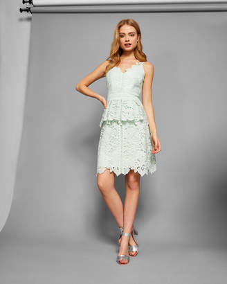 Ted Baker NADIIE Lace peplum detail dress