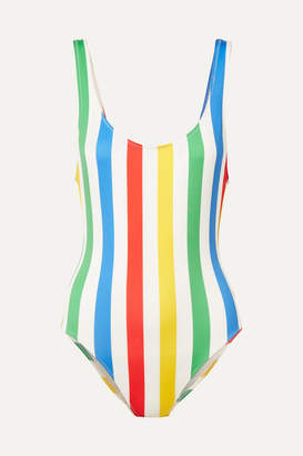 Solid & Striped The Anne-marie Striped Swimsuit - Red