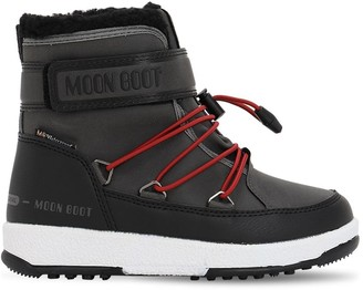 Moon Boot FAUX LEATHER ANKLE SNOW BOOTS