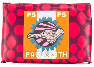 Paul Smith cheetah print clutch bag