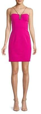 Aidan Mattox Sleeveless Sheath Dress