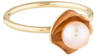 Alison Lou 14K Pearl & Enamel Oyster Stack Ring
