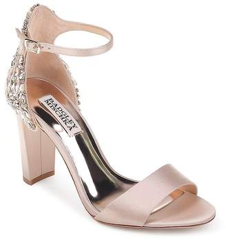 Badgley Mischka Women's Seina Embellished Satin Ankle Strap Sandals