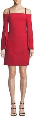 Elliatt Tempo Off-the-Shoulder Slit-Sleeve Mini Dress