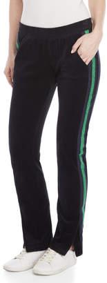 Pam & Gela Metallic Racer Stripe Velour Pants