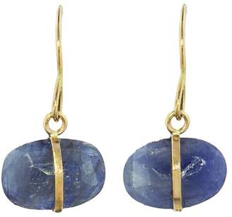 Melissa Joy Manning Blue Sapphire Single Drop Earrings