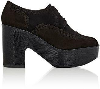 Robert Clergerie Women's Voel Platform Derbys-BLACK $725 thestylecure.com