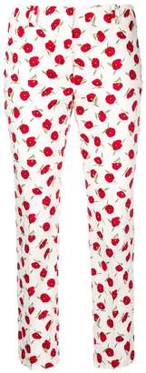 Incotex floral cropped tailored trousers