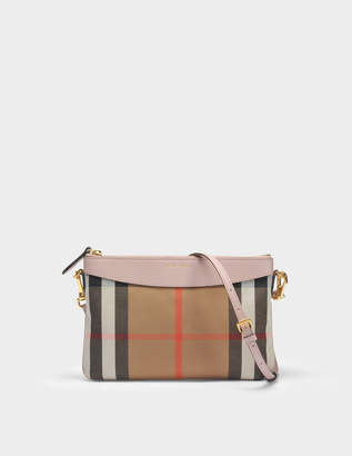 Burberry Peyton Pouch Bag in Pale Orchid Grained Calfskin