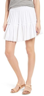 Women's Sun & Shadow Tiered Gauze Skirt $49 thestylecure.com