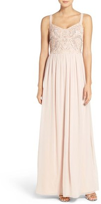 Women's Adrianna Papell Embellished Bodice Chiffon Gown $198 thestylecure.com