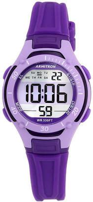 Armitron Pro-Sport Womens Purple Resin Strap Chronograph Sport Watch 45/7062PUR