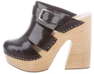 Rachel Comey Patent Leather Platform Mules