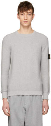 Stone Island Grey Arm Badge Sweater