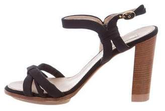 Nina Ricci Canvas Ankle Strap Sandals