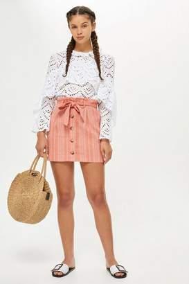 Topshop Petite Striped Mini Skirt