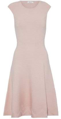 Milly Flared Mlange Ribbed-Knit Dress