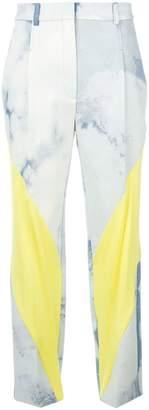 Esteban Cortazar contrast tailored trousers