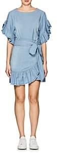 Etoile Isabel Marant Women's Lelicia Chambray Apron-Front Minidress - Blue