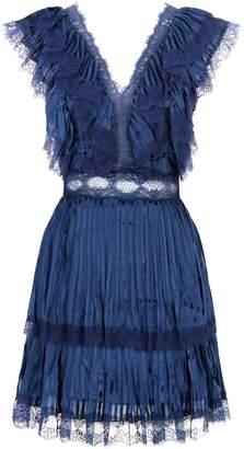 Alice + Olivia Lanora Lace Trim Dress