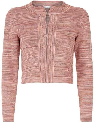 Sandro Metallic Knit Cardigan