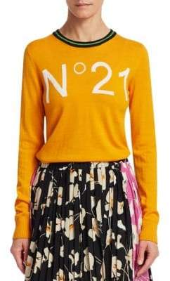 No.21 No. 21 Wool Logo Crewneck Sweater