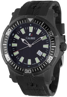 Calibre 45mm Men's Rubber Hawk Watch, Black