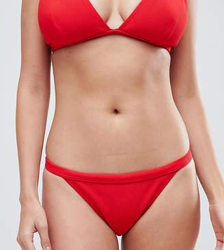 Wolfwhistle Wolf & Whistle Red Rib Triangle Bikini Bottom