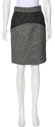 Zac Posen Knee-Length Tweed Skirt