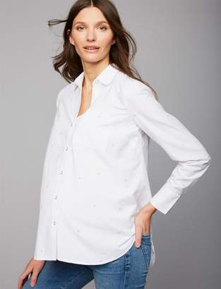 A Pea in the Pod Star Print Maternity Shirt