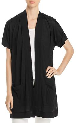Three Dots Side Slit Duster Cardigan