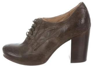 Frye Leather Oxford Pumps