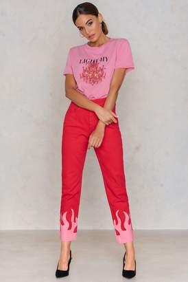 NA-KD Na Kd Pink Flame Jeans