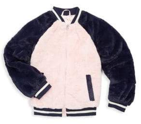 C&C California Girl's Long Sleeve Faux Fur Jacket