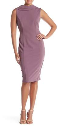 Connected Apparel Collared Pristine Sheath Dress