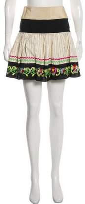Etro Embroidered Mini Skirt