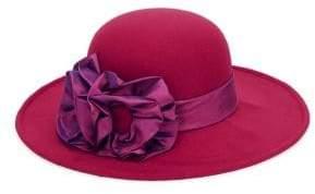 Giovannio Felt Ruffle Brim Hat