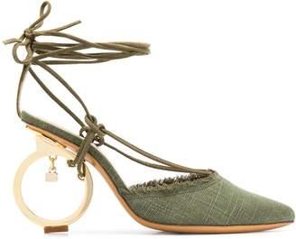Jacquemus circle heel sandals