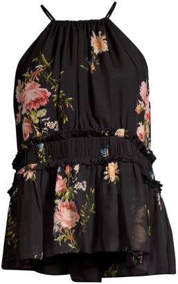 Joie Shawnette Floral Silk Top