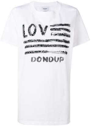 Dondup sequin graphic print T-shirt