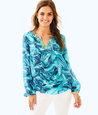 Lilly Pulitzer Colby Silk Top