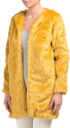 Juniors Australian Design Faux Fur Coat